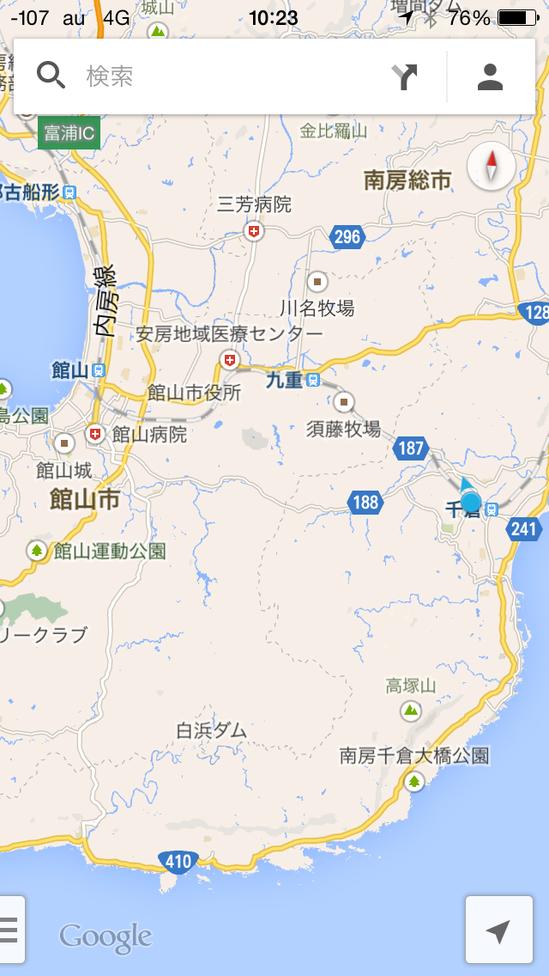 館山駅と千倉駅の地図