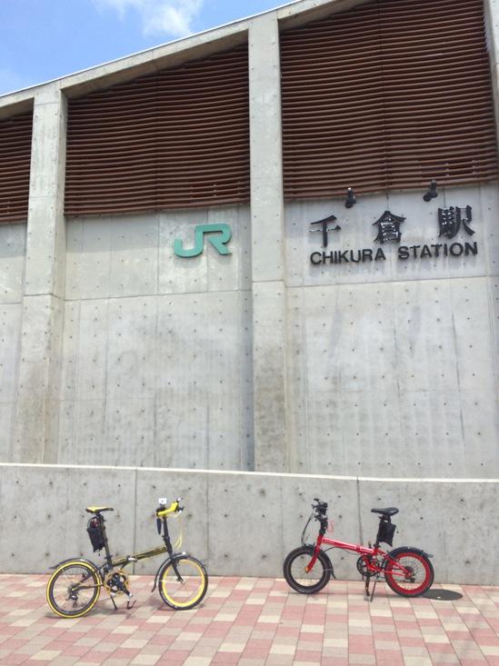 千倉駅からポタリングスタート