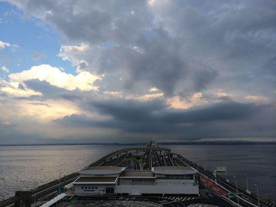 うみほたるから木更津上空の雲を発見