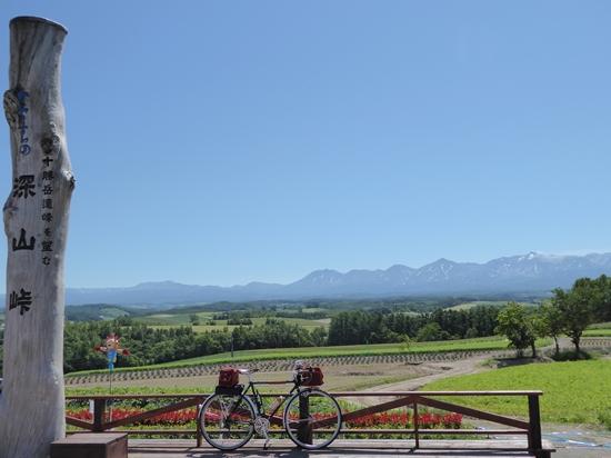 深山峠からの景色。