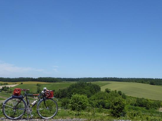 美馬牛の坂の上からの景色